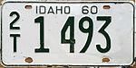1960 Idaho license plate.JPG