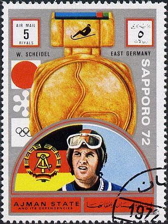 Wolfgang Scheidel - Scheidel on a stamp of Ajman