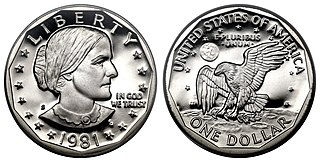 Susan B. Anthony dollar United States dollar coin depicting Susan B. Anthony