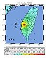 1999 Chiayi earthquake intensity map.jpg