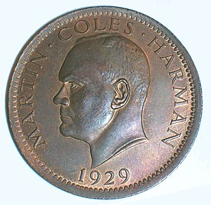Coins of Lundy - Image: 1puffin 1929