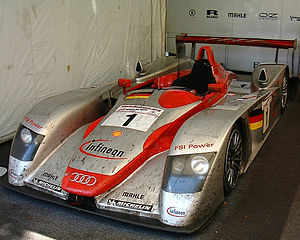 2002 24 Hours of Le Mans - The winning No. 1 Audi R8 LMP900, pictured at The Goodwood Festival of Speed.
