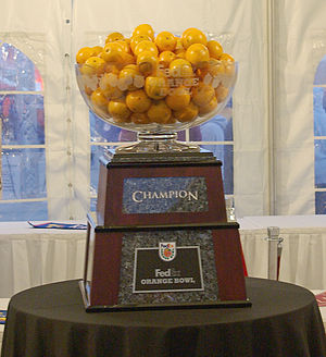 Orange Bowl - Orange Bowl trophy