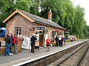 Crowcombe Heathfield railway station - Image: 2009 at Crowcombe Heathfield station up platform