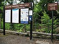 2009 at St Keyne Wishing Well Halt - noticeboard.jpg