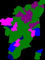 2009 tamil nadu lok sabha election map by tf contesting parties.png