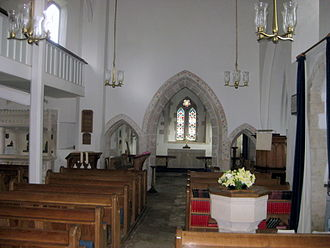 Church Knowle - St Peter's Church, inside view