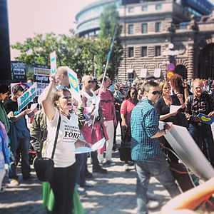 Genetically modified food controversies - March Against Monsanto in Stockholm, Sweden, May 2013