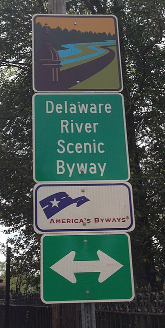 New Jersey Route 29 - Signage for the Delaware River Scenic Byway