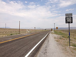 Nevada State Route 375 - View from the north end of SR 375 looking southbound