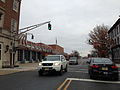 2014-12-20 15 01 24 A old traffic light painted green at the intersection of Perry Street and Stockton Street in front of the Trenton Fire Headquarters in Trenton, New Jersey.JPG