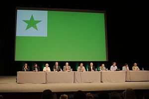 Universal Esperanto Association - UEA board members and other distinct UEA members at the inauguration of the 2015 congress