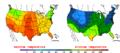 2015-10-12 Color Max-min Temperature Map NOAA.png