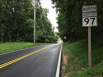 Maryland Route 97 - MD 97 northbound in Eldersburg