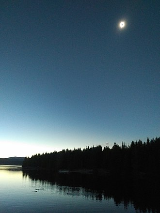 Solar eclipse of August 21, 2017 - Totality over Timothy Lake, Oregon