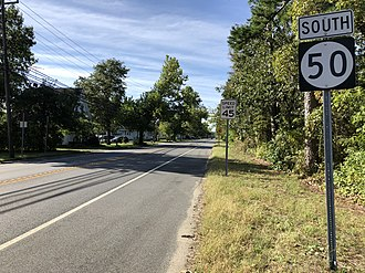 Weymouth Township, New Jersey - Route 50 southbound in Weymouth Township