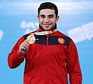 2018-10-11 Victory ceremony (Weightlifting Boys' 77kg) at 2018 Summer Youth Olympics by Sandro Halank–037.jpg