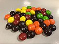 2019-11-08 15 54 59 The contents of a fun-size packet of Skittles in the Dulles section of Sterling, Loudoun County, Virginia.jpg