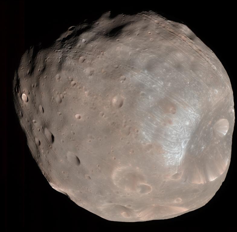 Снимок Фобоса, сделанный аппаратом Mars Reconnaissance Orbiter 23 марта 2008 года