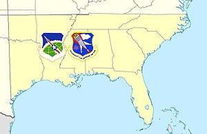 23rd Air Division (United States) - 23rd Air Division/Southeast Air Defense Sector AOR, 1979-1987
