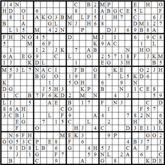 picture about 16 Square Sudoku Printable identify Glossary of Sudoku - Wikipedia