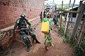 26 mars 2015. Kichanga, Nord Kivu, RD Congo- un soldat des FARDC monte la garde et assure la sécurité des populations civiles aux alentours de Nyanzale. (16887193958).jpg