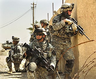3rd Infantry Brigade, 2nd Infantry Division - 2ID soldiers patrolling in Baghdad.