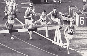 Athletics at the 1960 Summer Olympics – Men's 3000 metres steeplechase - Image: 3000 m steeplechase 1960 Olympics