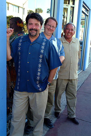 Three Guys from Miami - The Three Guys From Miami on the streets in South Beach. (l to r) Jorge Castillo, Glenn Lindgren, and Raul Musibay.