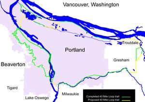 40-Mile Loop - Image: 40 mile loop map
