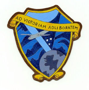 Charra Airfield - Emblem of the 444th Bombardment Squadron