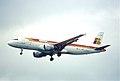 95bk - IBERIA Airbus A320-211; EC-FGH@LHR;01.06.2000 (6161673241).jpg