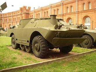 "BRDM-2 - 9P122 ""Malyutka"" in Saint Petersburg Artillery Museum."