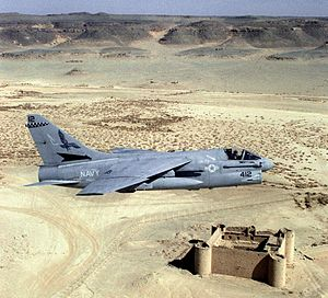 A-7E VA-72 over Saudi Fort 1990.JPEG