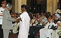 A.P.J. Abdul Kalam presenting the Shaurya Chakra Award to Mrs. Raji Genesan EX-GS-173840X Supdt. Building and Roads Grade-II, Genesan M, Border Roads Organisation (Posthumous), at Defence Investiture Ceremony.jpg