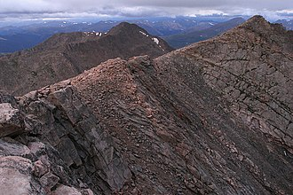 Mount Evans - Looking west along ridge from summit