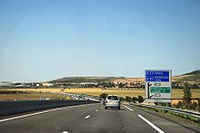Autoroute A75 à proximité de Clermont-Ferrand