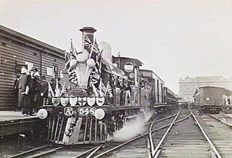 Royal visits to Australia - Victorian Railways Royal Train decorated for the visit of Prince George and his wife Mary in 1901