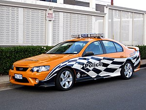 ACT Policing - Image: ACT Pol Orange Ford XR6 Turbo 1024