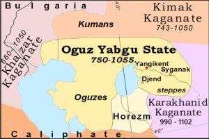 Kimek confederation - Image: AD 750Oguz Yabgu
