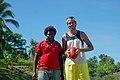 AFL Development Officer Michael Cormack stands next to his counterpart Job Vulita at the Kukum oval. (10664959404).jpg