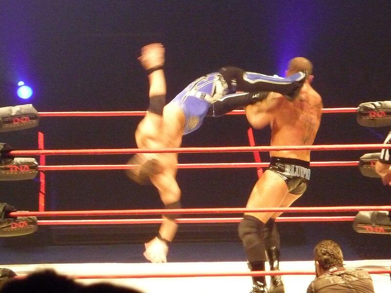 File:AJ Styles & Samoa Joe vs Matt Morgan & Abyss.jpg
