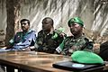 AMISOM Deputy Force Commander, Major General Geoffrey Baraba Muheesi, and AMISOM's new Police Commissioner, Anand Pillay, visit Baidoa, Somalia, on June 20. The two AMISOM officials were received by (14281132677).jpg