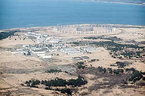 Misawa Air Base - AN/FLR-9 antenna array Misawa Air Base c.1980
