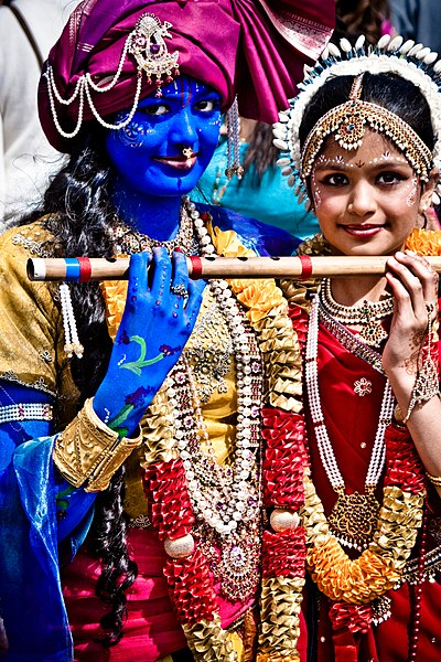 File:A Krishna Radha couple at the Festival Of Chariots 2010.jpg