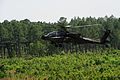 A U.S. Army AH-64D Apache Longbow helicopter assigned to the 82nd Combat Aviation Brigade prepares to land June 28, 2013, during a live-fire mission as part of Joint Operational Access Exercise (JOAX) 13-03 130628-F-WJ663-592.jpg
