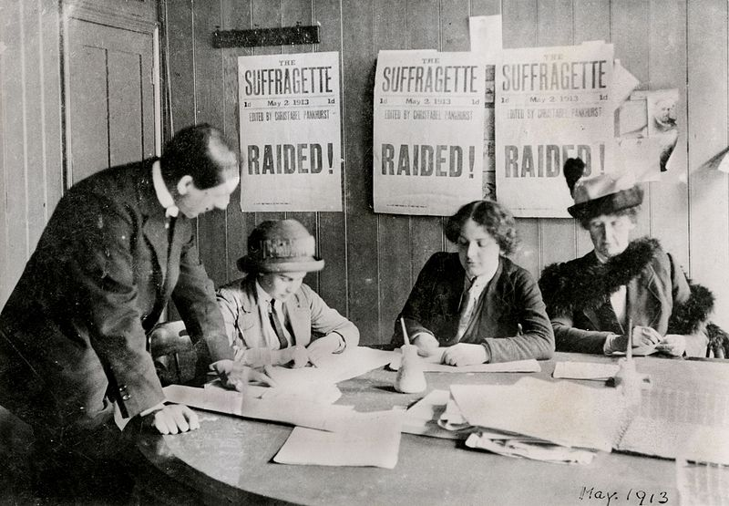 File:A Women's Social and Political Union (WSPU) office, 1913. (22930678132).jpg