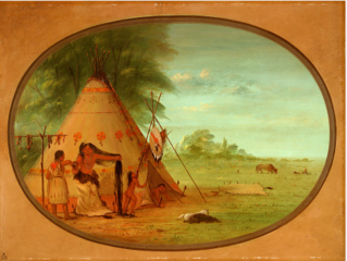 A Crow Chief at His Toilette