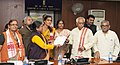 A delegation of Aganwadi workers meeting the Minister of State for Labour and Employment (Independent Charge), Shri Bandaru Dattatreya, in New Delhi on November 24, 2014.jpg