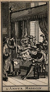 A group of physicians trying to diagnose a young woman's ill Wellcome V0016109ER.jpg